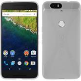 Silikon Hülle Nexus 6P X-Style clear + 2 Schutzfolien
