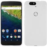Silikon Hülle Nexus 6P X-Style weiß + 2 Schutzfolien