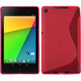 Silicone Case for Google Nexus 7 2013 S-Style hot pink
