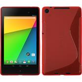 Silicone Case for Google Nexus 7 2013 S-Style red