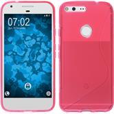 Silikon Hülle Pixel XL S-Style pink + 2 Schutzfolien