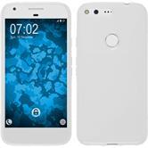 Silikon Hülle Pixel XL S-Style weiß + 2 Schutzfolien