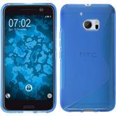 Silikon Hülle 10 S-Style blau + 2 Schutzfolien