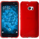 Silikon Hülle 10 S-Style rot + 2 Schutzfolien