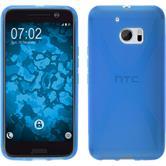 Silikon Hülle 10 X-Style blau + 2 Schutzfolien