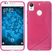 Silikon Hülle Desire 10 Lifestyle S-Style pink + 2 Schutzfolien