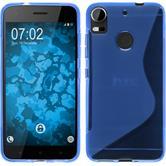 Silikon Hülle Desire 10 Pro S-Style blau + 2 Schutzfolien