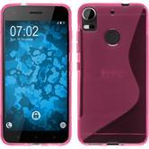 Silikon Hülle Desire 10 Pro S-Style pink + 2 Schutzfolien