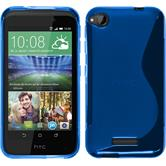 Silikonhülle für HTC Desire 320 S-Style blau