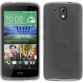 Silikonhülle für HTC Desire 326G transparent weiß