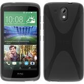 Silikonhülle für HTC Desire 326G X-Style grau