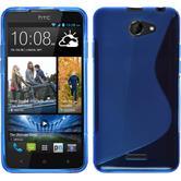 Silikonhülle für HTC Desire 516 S-Style blau