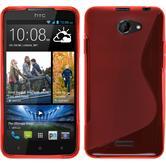 Silikonhülle für HTC Desire 516 S-Style rot