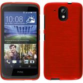 Silikonhülle für HTC Desire 526G+ brushed rot