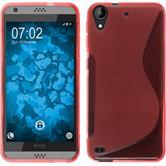 Silikon Hülle Desire 530 S-Style rot + 2 Schutzfolien