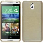 Silicone Case for HTC Desire 610 brushed gold