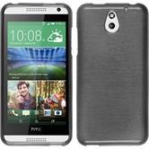 Custodia in Silicone per HTC Desire 610 brushed argento