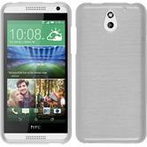 Silikonhülle für HTC Desire 610 brushed weiß