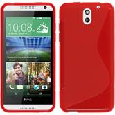 Silicone Case for HTC Desire 610 S-Style red