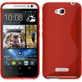 Silicone Case for HTC Desire 616 S-Style red