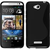 Silicone Case for HTC Desire 616 S-Style black