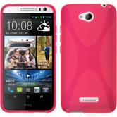 Silicone Case for HTC Desire 616 X-Style hot pink