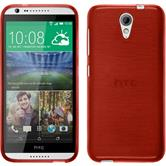 Silikonhülle für HTC Desire 620 brushed rot