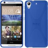 Silikon Hülle Desire 626 X-Style blau
