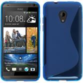Silicone Case for HTC Desire 700 S-Style blue