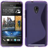 Silicone Case for HTC Desire 700 S-Style purple