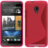 Silicone Case for HTC Desire 700 S-Style hot pink