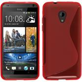 Silicone Case for HTC Desire 700 S-Style red