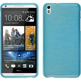 Silicone Case for HTC Desire 816 brushed blue
