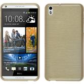 Silicone Case for HTC Desire 816 brushed gold