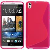 Silikonhülle für HTC Desire 816 S-Style pink