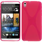 Silicone Case for HTC Desire 816 X-Style hot pink