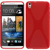 Silicone Case for HTC Desire 816 X-Style red