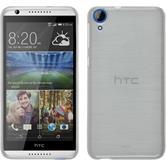 Silikonhülle für HTC Desire 820 brushed weiß