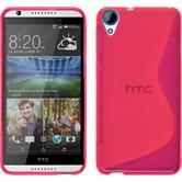 Silikonhülle für HTC Desire 820 S-Style pink
