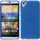 Silikon Hülle Desire 826 S-Style blau Case
