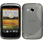 Silikonhülle für HTC Desire C S-Style grau