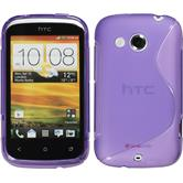 Silicone Case for HTC Desire C S-Style purple