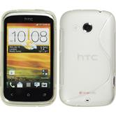 Silicone Case for HTC Desire C S-Style transparent