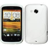 Silicone Case for HTC Desire C S-Style white