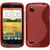 Silicone Case for HTC Desire X S-Style red