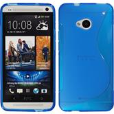 Silicone Case for HTC One S-Style blue