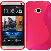Silicone Case for HTC One S-Style hot pink