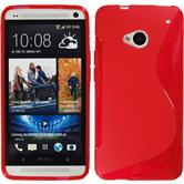 Silicone Case for HTC One S-Style red
