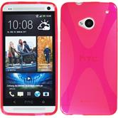 Silicone Case for HTC One X-Style hot pink