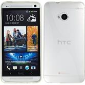 Silicone Case for HTC One X-Style transparent